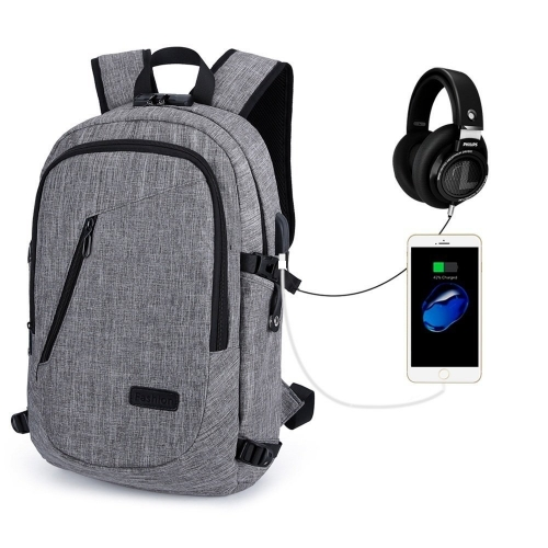 ERAY Laptop Backpack Anti Theft USB Business Backpack Fits for 15.6 inch Computer/ Notebook/ Tablet with USB Charging Port and Earphone Port