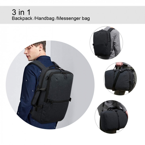 ERAY Laptop Backpack 3 in 1 Multi-Functional Messenger Bag Handbag Backpack Fits for 15.6 inch Computer/Notebook/Tablet for Men/Women/College/Students