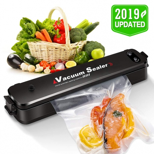 ERAY Vacuum Sealer Machine Automatic Food Sealer with 15 Pacs Sealer Bags for Dry and Moist Food, Vacuum & Seal / Seal Only