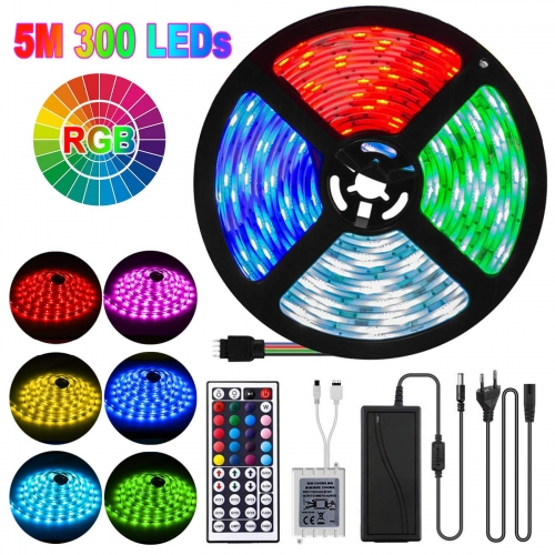 ERAY LED Strip Lights 16.5ft RGB LED Tape Lights Color Changing with Remote Flexible Strip Lights for Bar Home Decoration