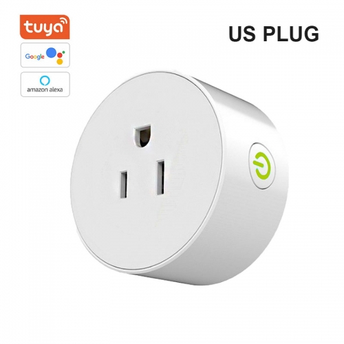 ERAY AC01 Tuya Wi-Fi Smart Plug, Mini Outlets Smart Socket No Hub Required Compatible with Alexa/Google Assistant US Plug
