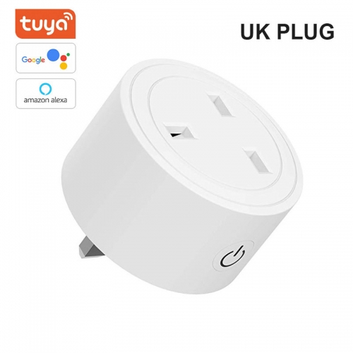 ERAY AC03 Tuya Wi-Fi Smart Plug, Mini Outlets Smart Socket No Hub Required Compatible with Alexa and Google Assistant UK Plug