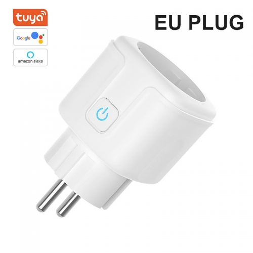 ERAY AC02 Tuya Wi-Fi Smart Plug, Mini Outlets Smart Socket No Hub Required Compatible with Alexa/Google Assistant EU plug
