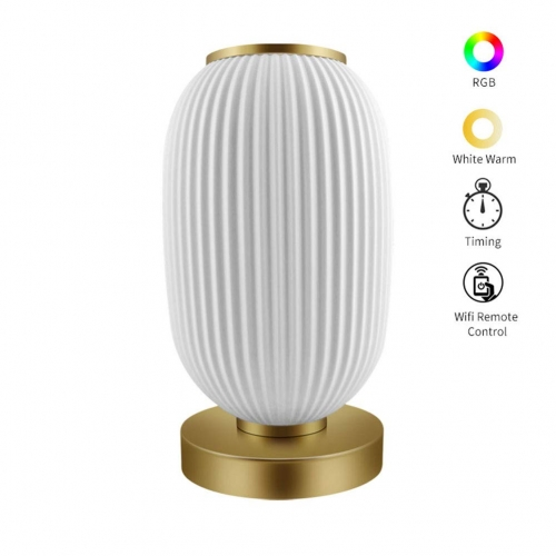 ERAY LL-01W WiFi Smart Table Lamp 850LM 12W Works with Alexa/Google Assistant Colorful LED Bedside 3D Print Night Light