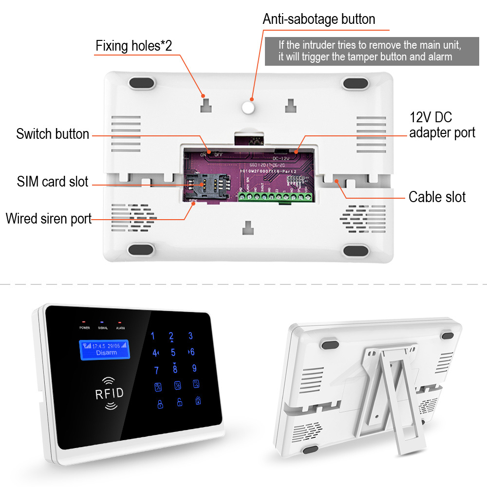 Wifi Security Alarm Wifi Home Alarm Sytems Wifi Burglar Alarm Eray