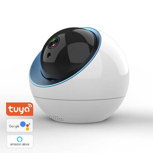 Home Security Camera, 1080P Smart Wireless WiFi Camera App Alarm Push, Two-Way Audio, Supports 128 GB TF Card, Cloud Storage, Works with Alexa