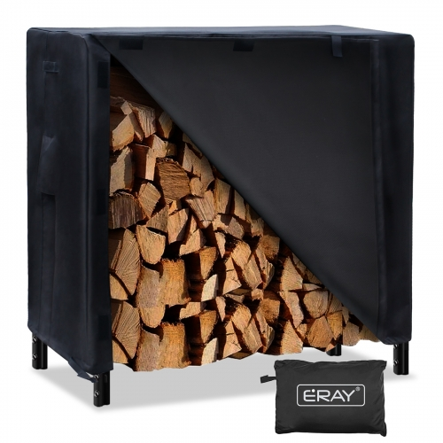 ERAY Heavy Duty Log Rack Cover Firewood Rack Cover 420D Oxford Cloth Windproof Firewood Protector