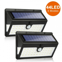 ERAY Solar Lights LED Outdoor 44 LED Solar Motion Sensor Light IP65 Waterproof Wireless Security Wall Lights with 3 Modes and 270° Wide Angle, 2 Pack