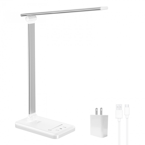 ERAY Dimmable LED Desk Lamp Eye Caring Reading Light with 5 Color Modes, Sliding Touch Dimming and Auto Timer